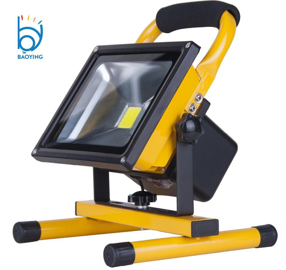Portable Rechargeable Led Flood Light Colorful 10w 20w