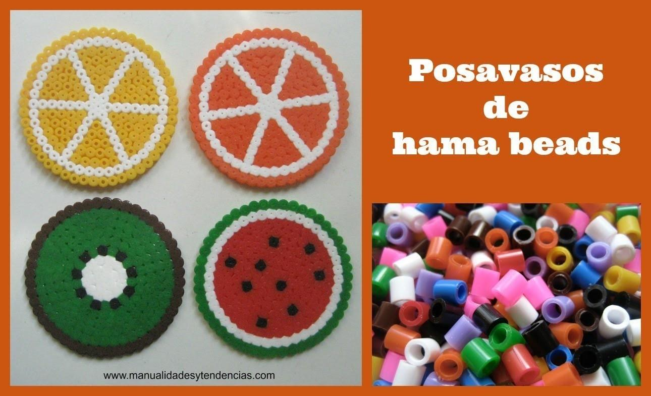Posavasos Hama Beads Pyssla Fruit Coasters