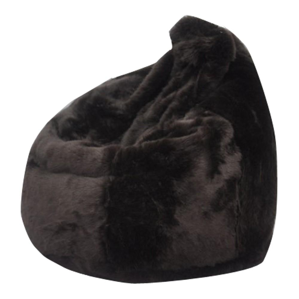 Posh Fur Bean Bags Brown Modern Bag Chair