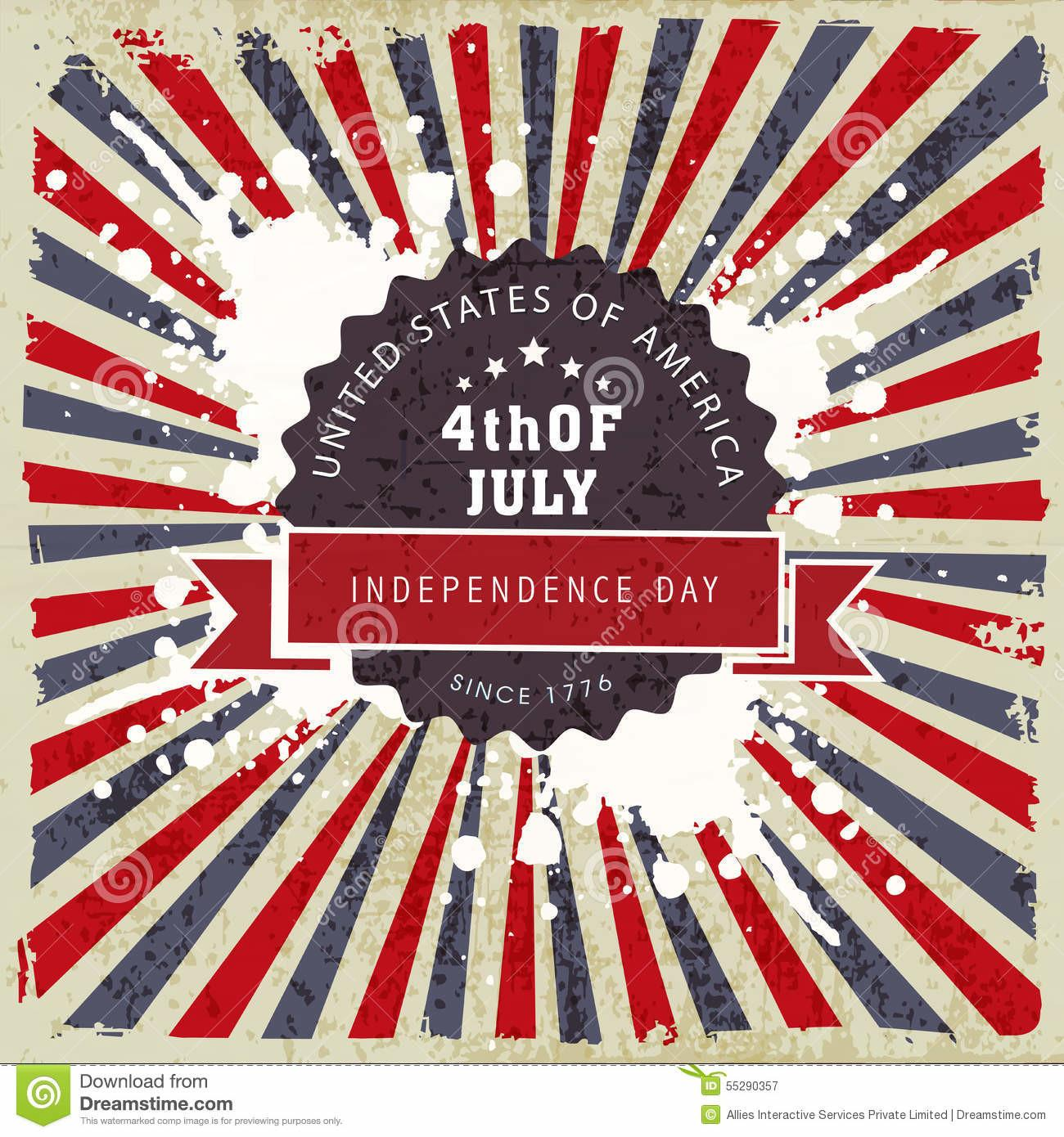 Poster Banner Flyer American Independence Day
