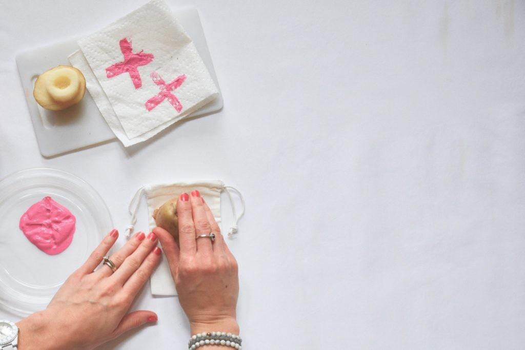 Potato Stamp Treat Bags Diy Our Happy Place