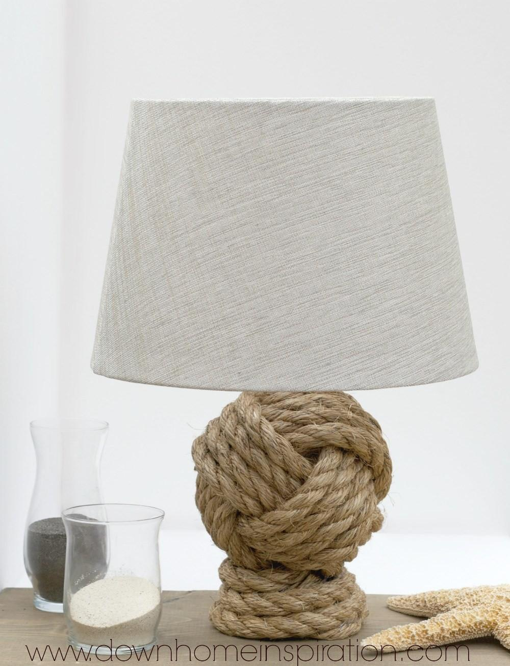 Pottery Barn Knockoff Rope Knot Lamp Down Home Inspiration