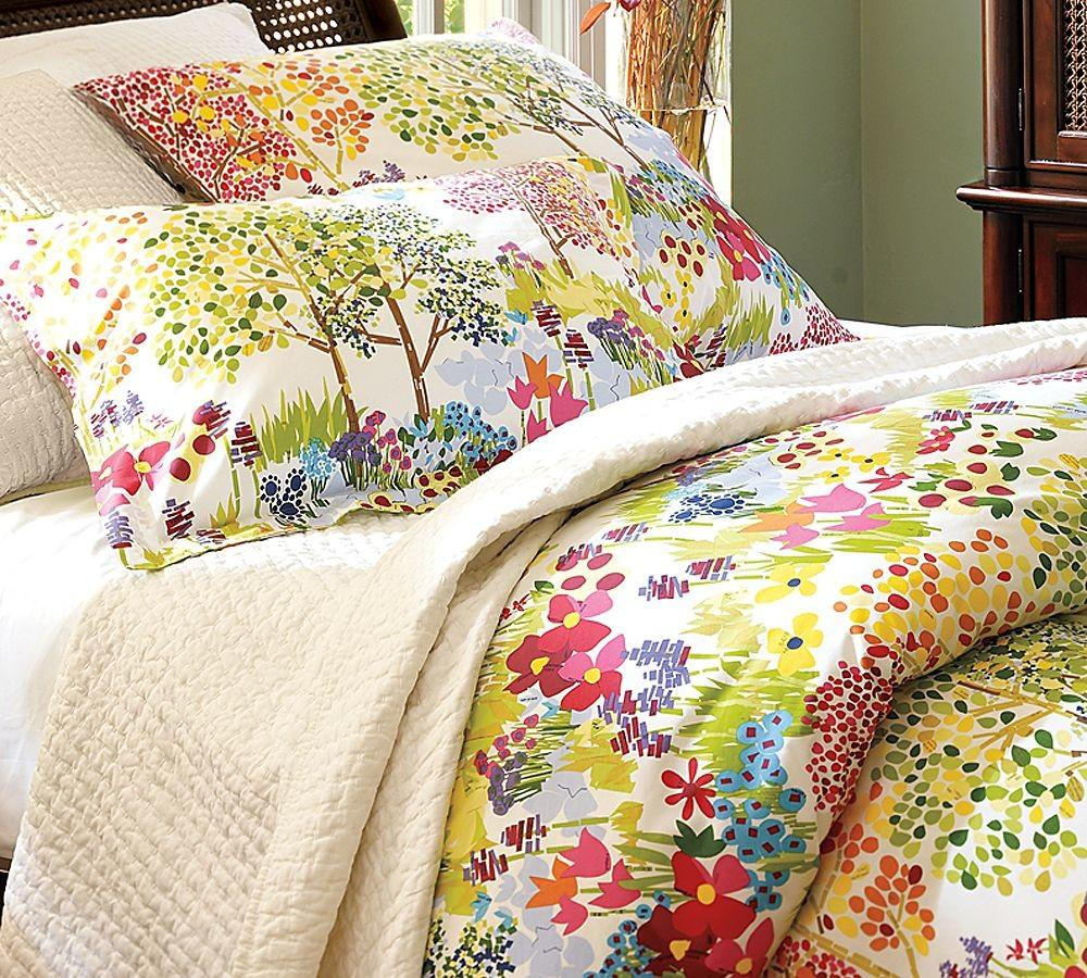 Pottery Barn Woodland Organic Duvet Cover Shams