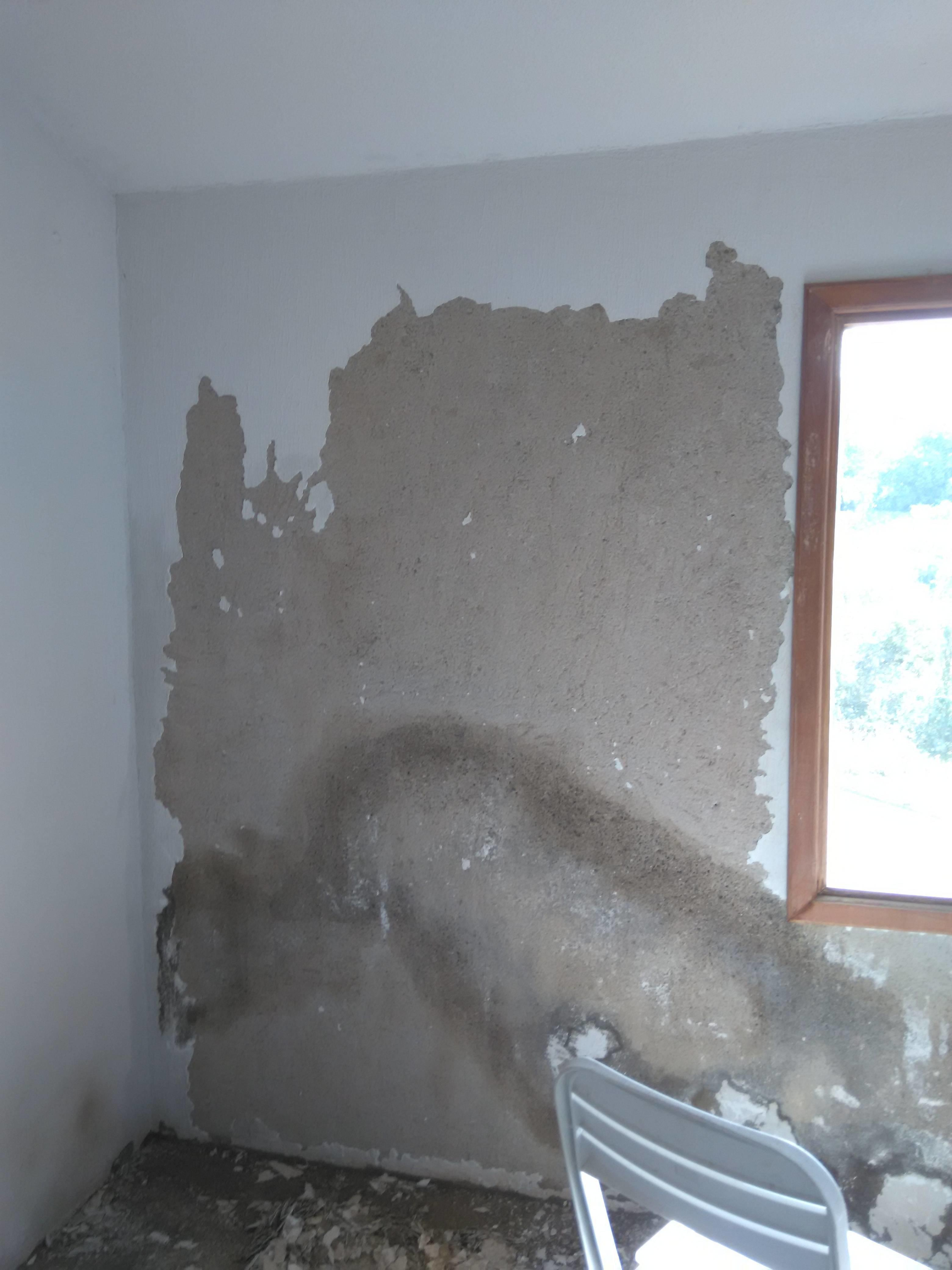 Poured Cement Wall Repair Stucco Home Improvement