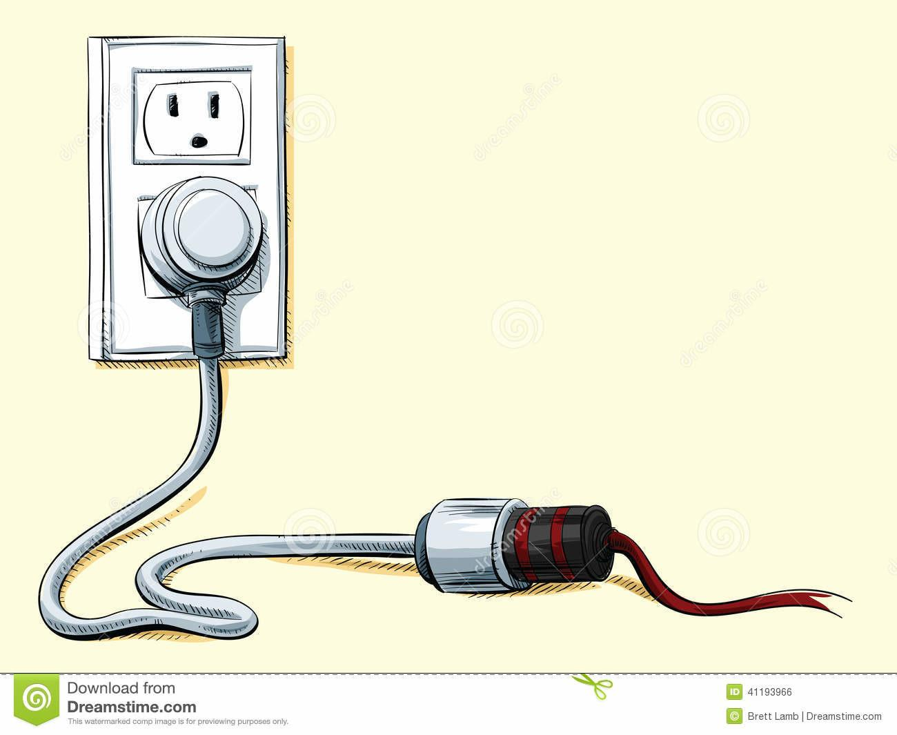 Power Cord Connection Stock Illustration