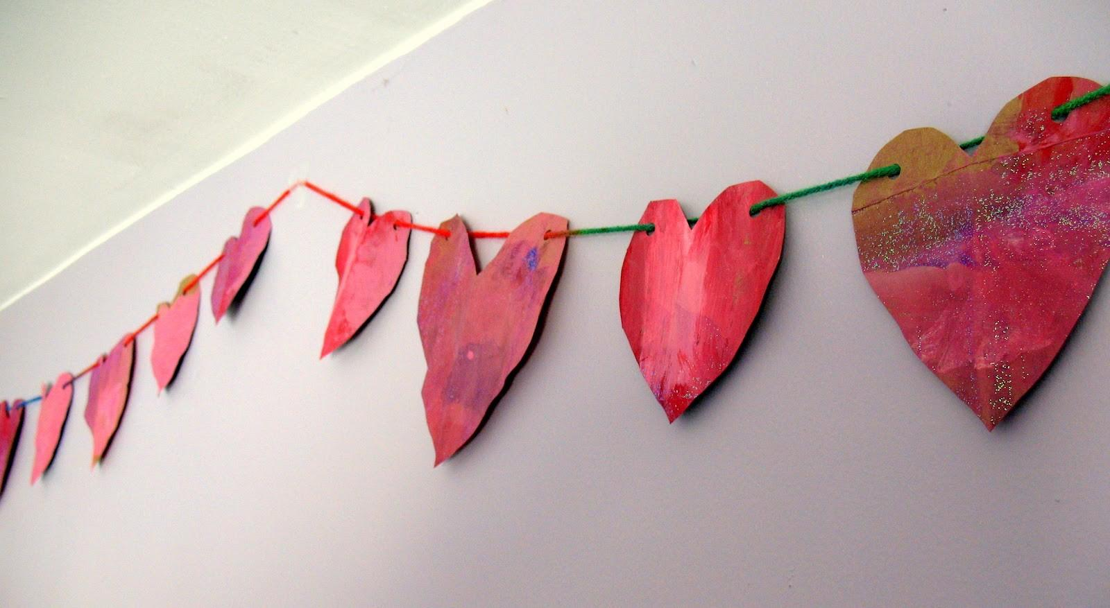 Practically Homemade Paper Heart Garland