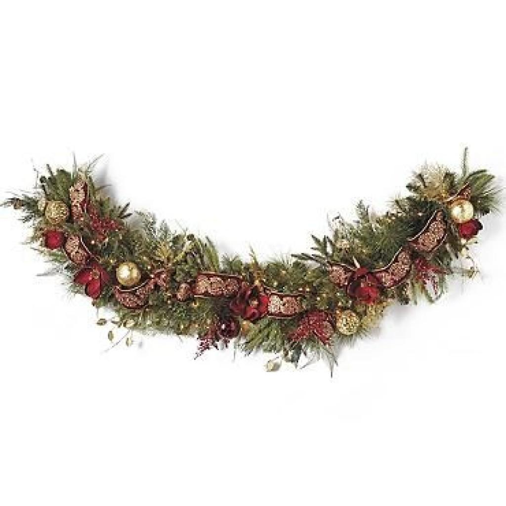 Pre Decorated Christmas Garlands Happy Holidays