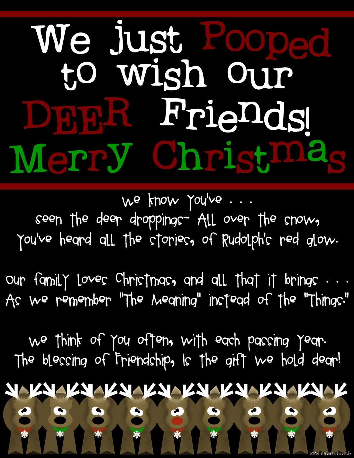 Prepared Scared Merry Christmas All Our Deer Friends