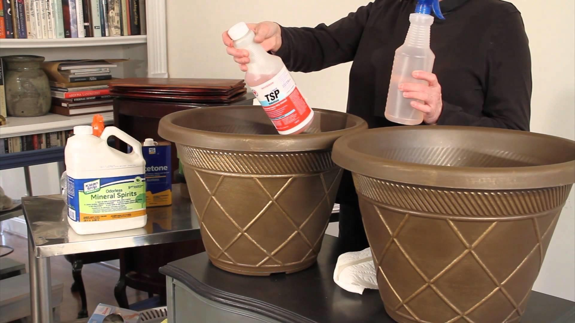 Prepping Plastic Planter Pots Home Depot Chalk