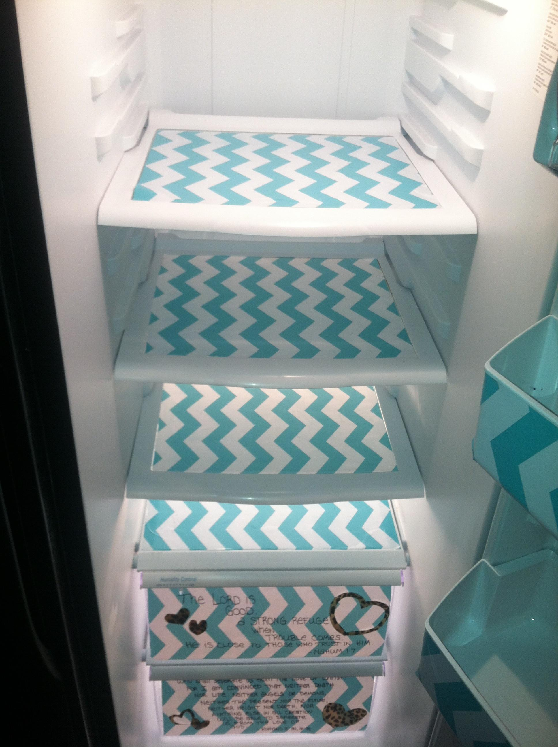 Preppy Fridge Makeover Easiest Diy Your Life