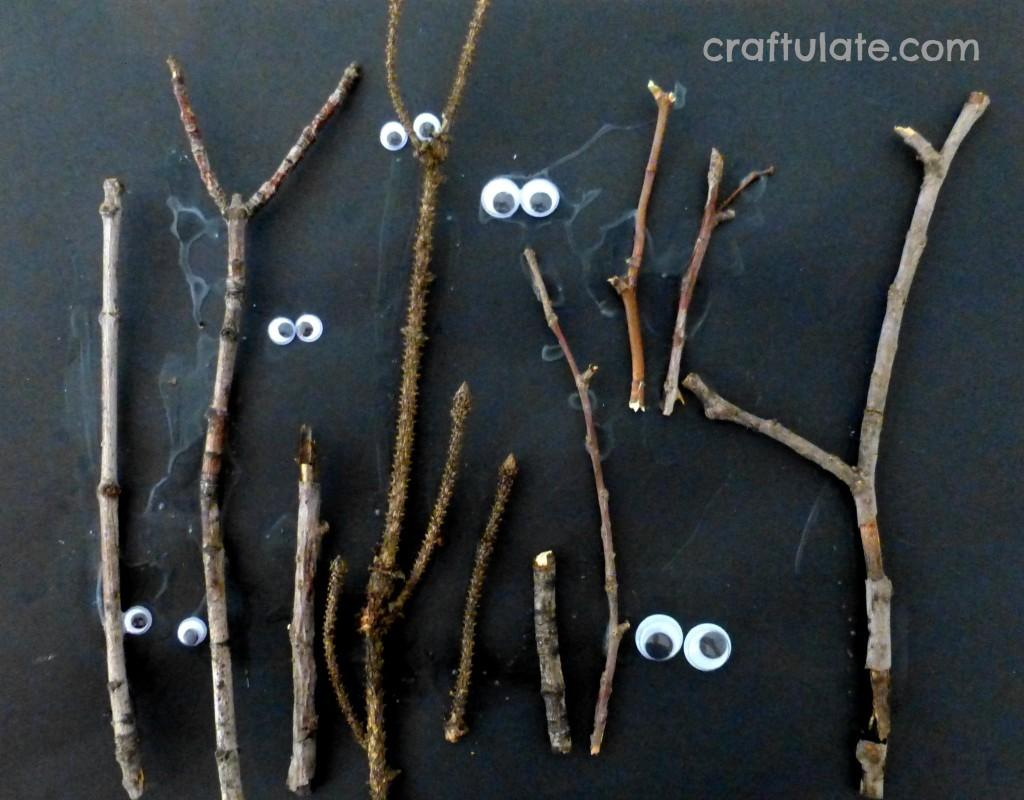 Preschool Crafts Kids Easy Halloween Spooky Forest Craft