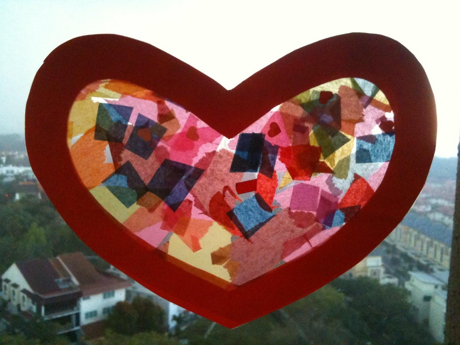 Preschool Crafts Kids Valentine Day Heart Sun