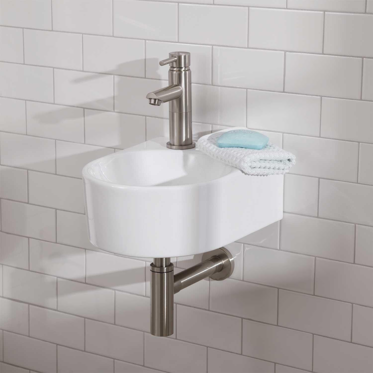 Prescott Wall Mount Bathroom Sink