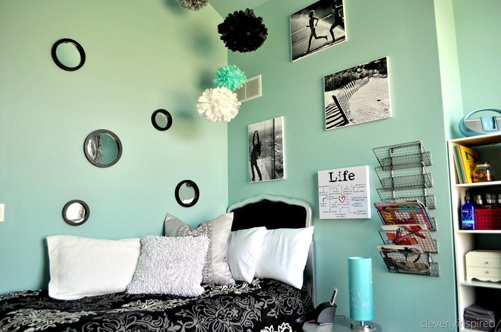 Preteen Room Aqua Black Reveal Cleverly Inspired