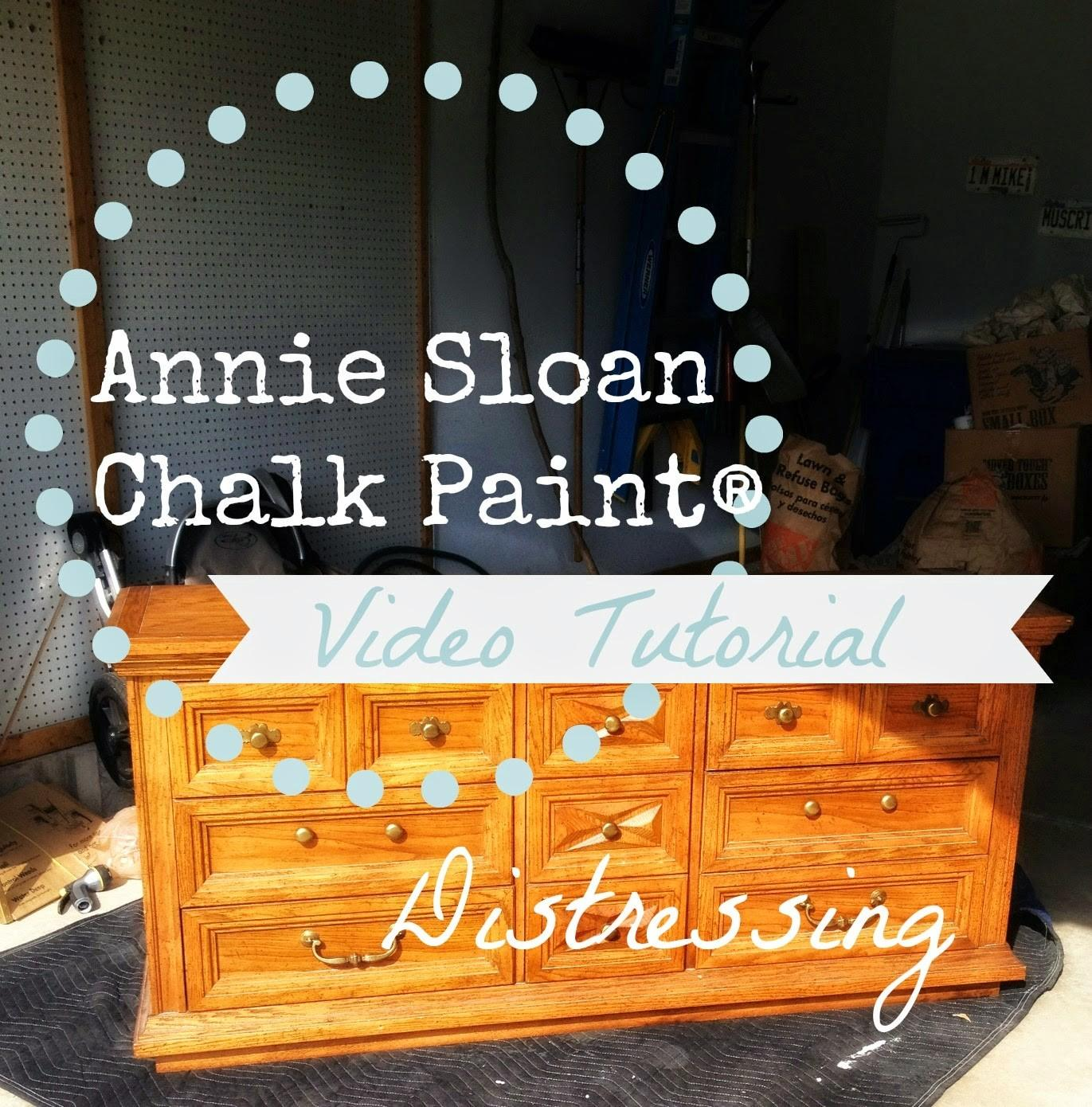 Pretty Distressed Annie Sloan Chalk Paint Video Tutorial