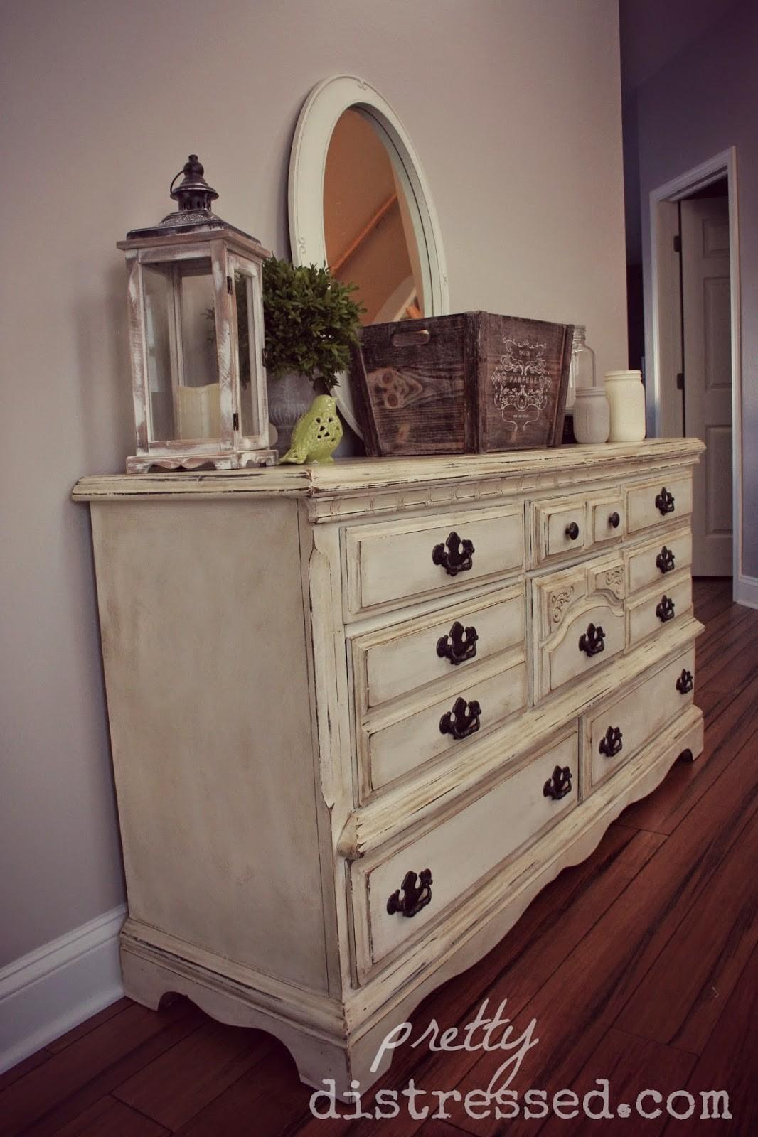 Pretty Distressed Goodwill Dresser Video Tutorial Part