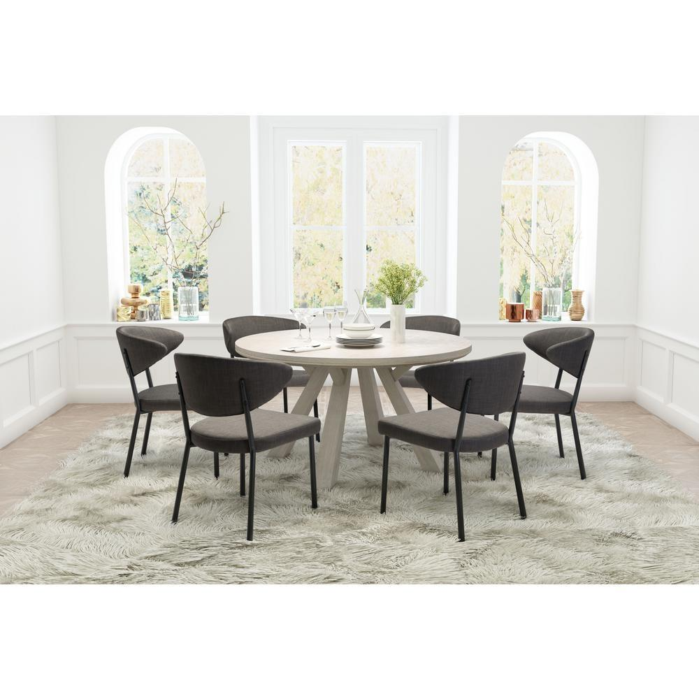 Pretty Gray Dining Chairs Kitchen Room Furniture