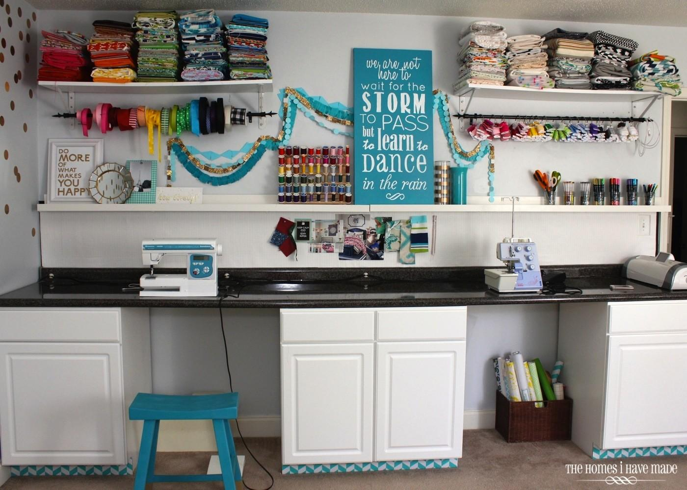 Pretty Organized Craft Station Reveal Homes Have