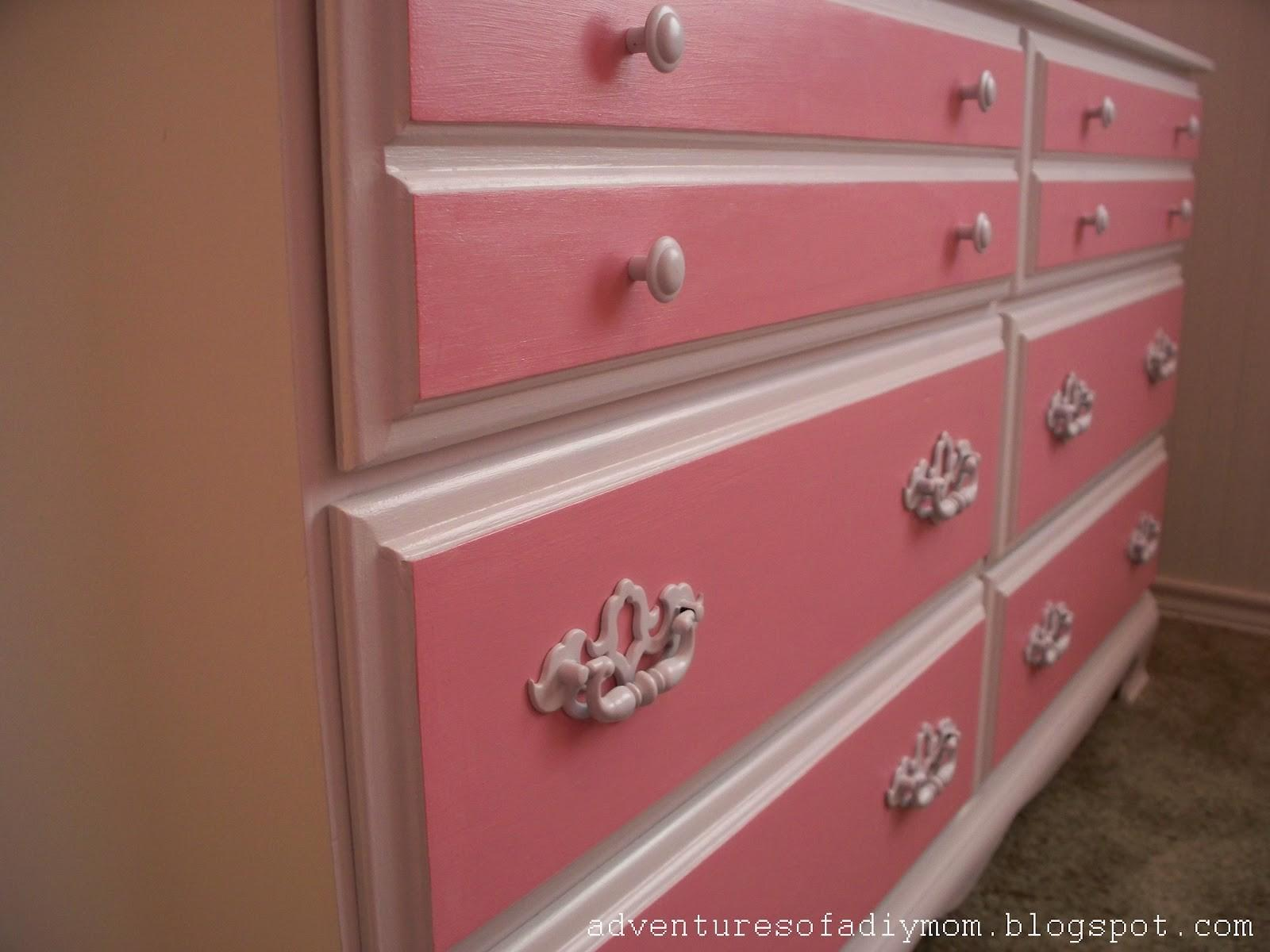 Pretty Pink Dresser Makeover Adventures Diy Mom