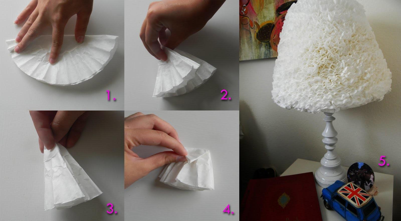 Pretty Simple Things Diy Ruffled Coffee Filter Lampshade