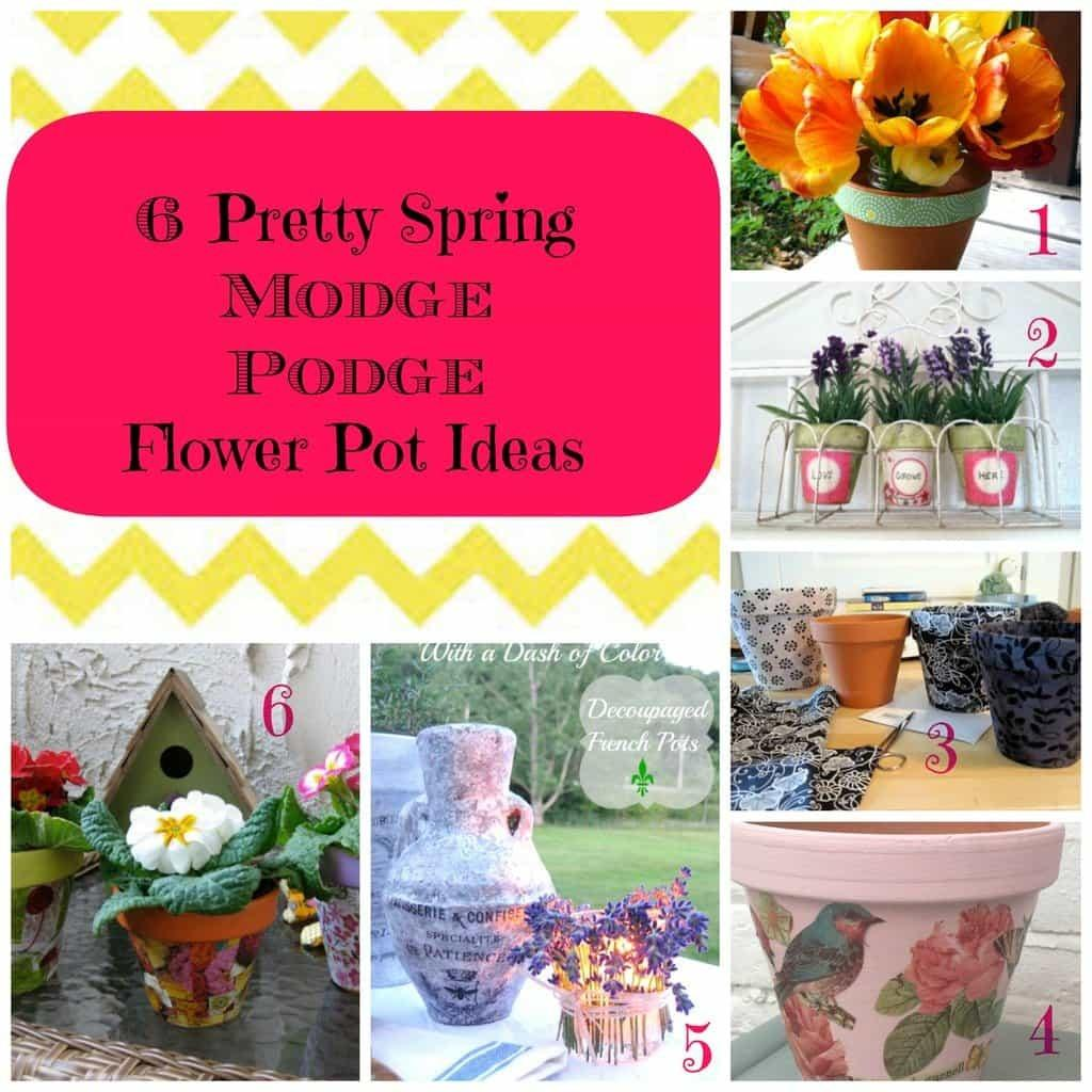 Pretty Spring Flower Pot Decoupage Ideas Gym Craft Laundry
