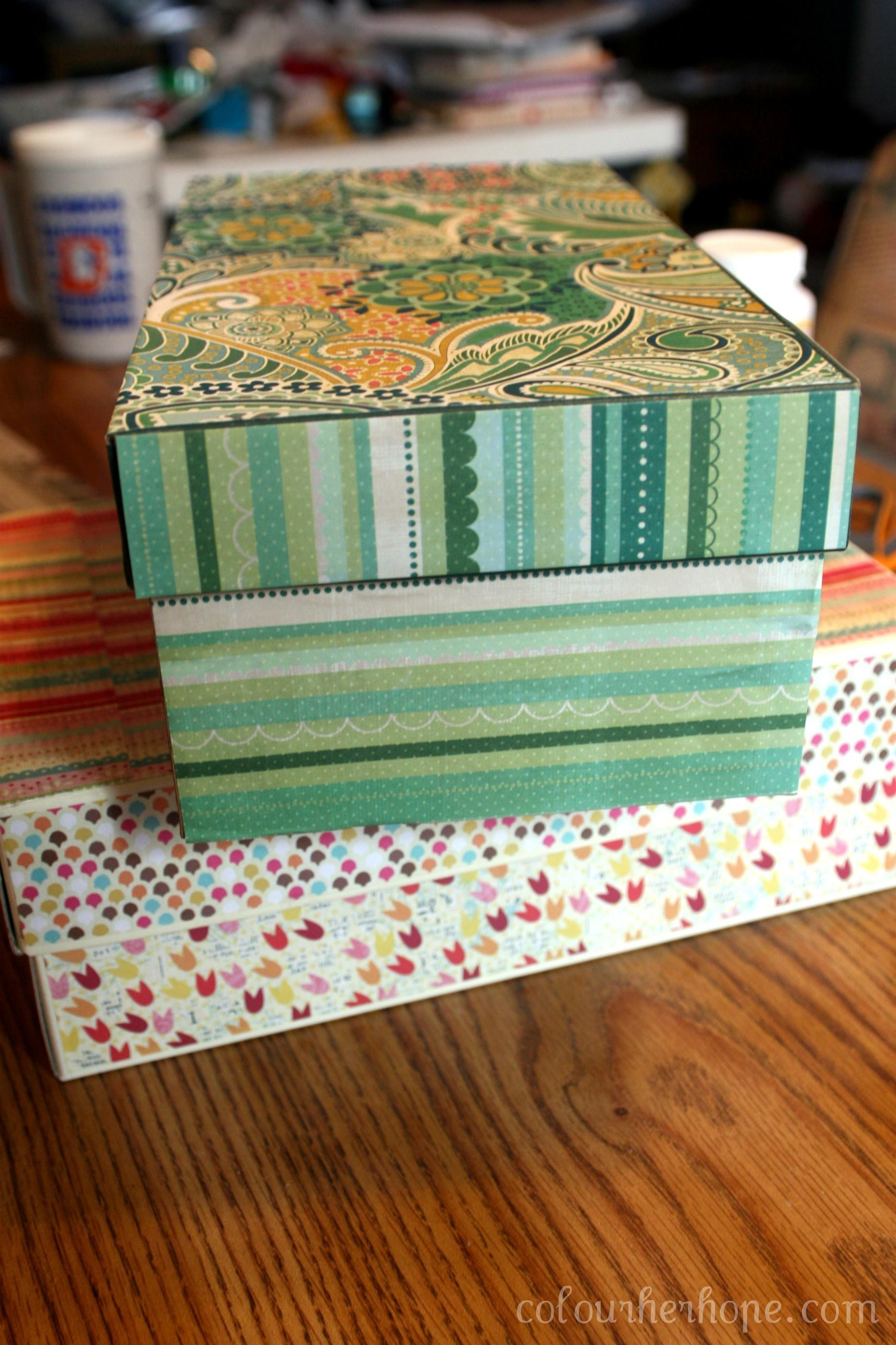 Pretty Storage Boxes Easy Peesy Diy Colour Her Hope