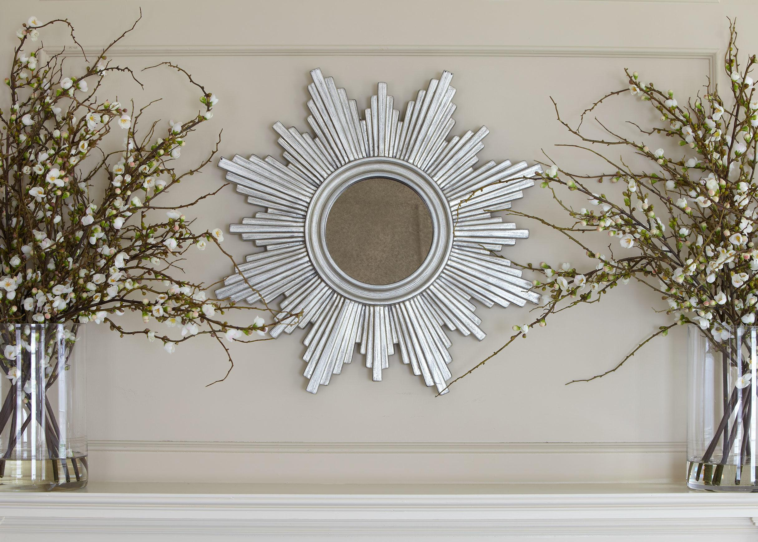 Pretty Sunburst Mirrors Wall Decorations Ideas