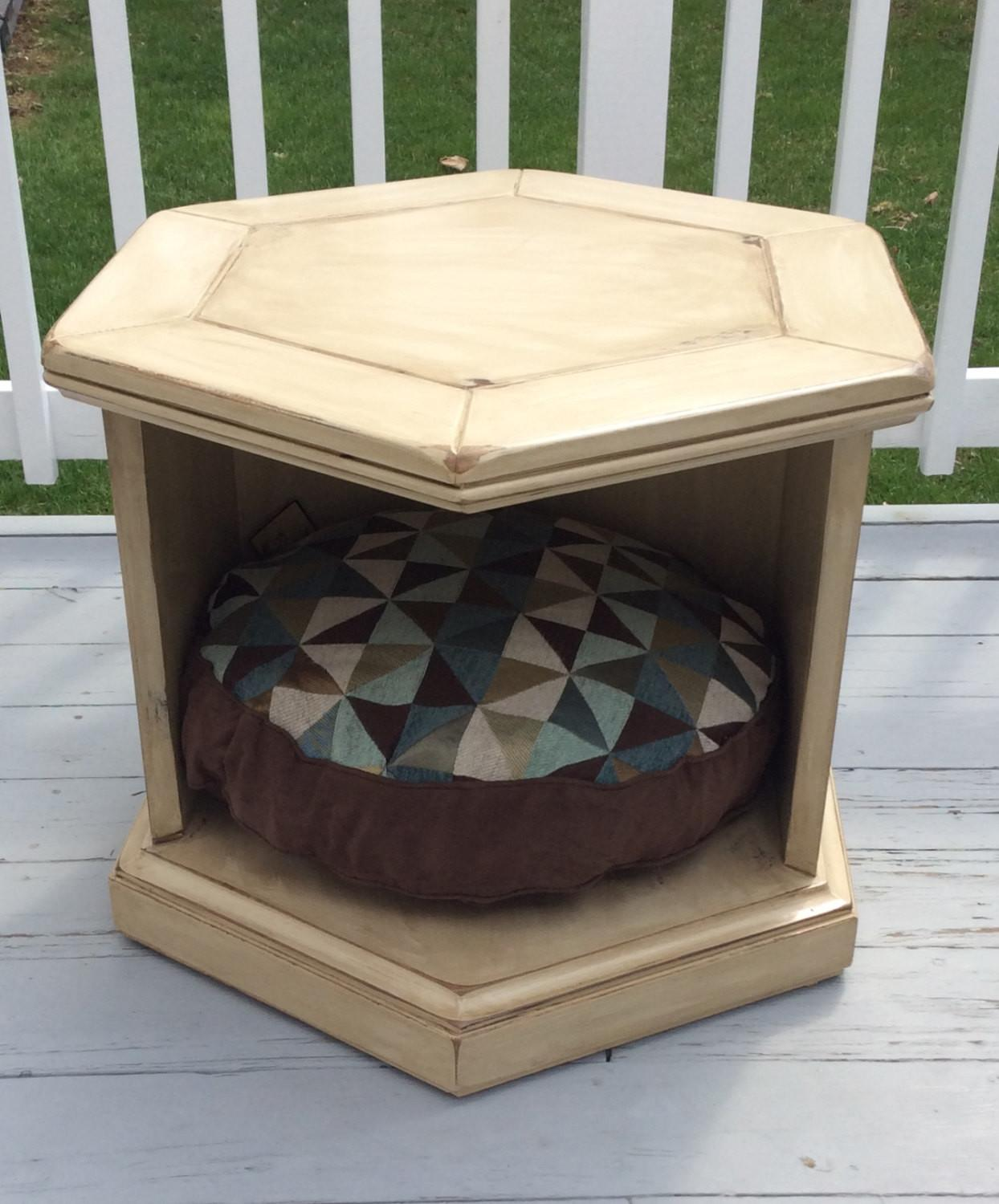 Price Reduced Hand Painted End Table Dog Bed Pet