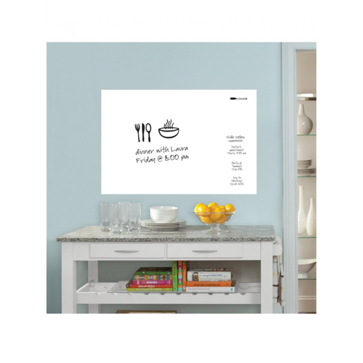 Price Right Home Wallpops Laminated White Message Board