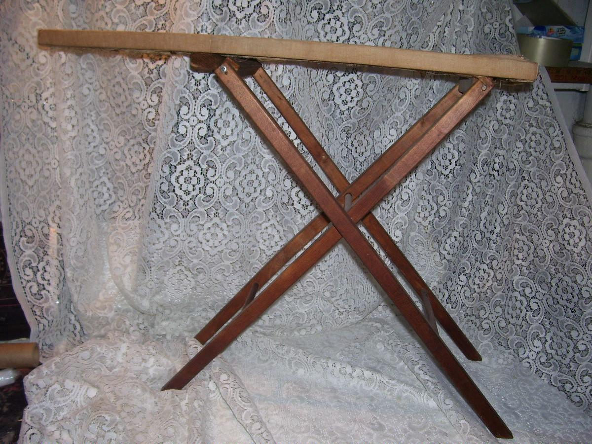 Primitive Shabby Antique Wooden Ironing Board