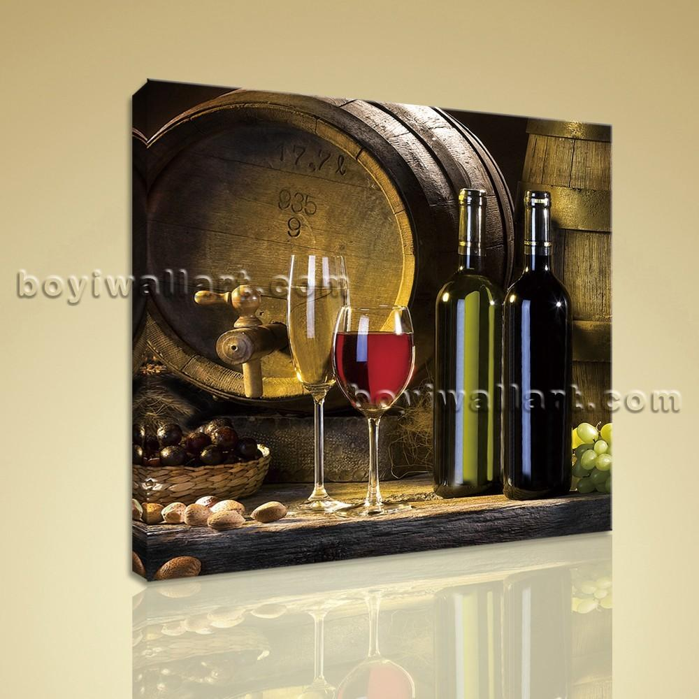 Print Abstract Painting Wall Art Canvas Wine Food