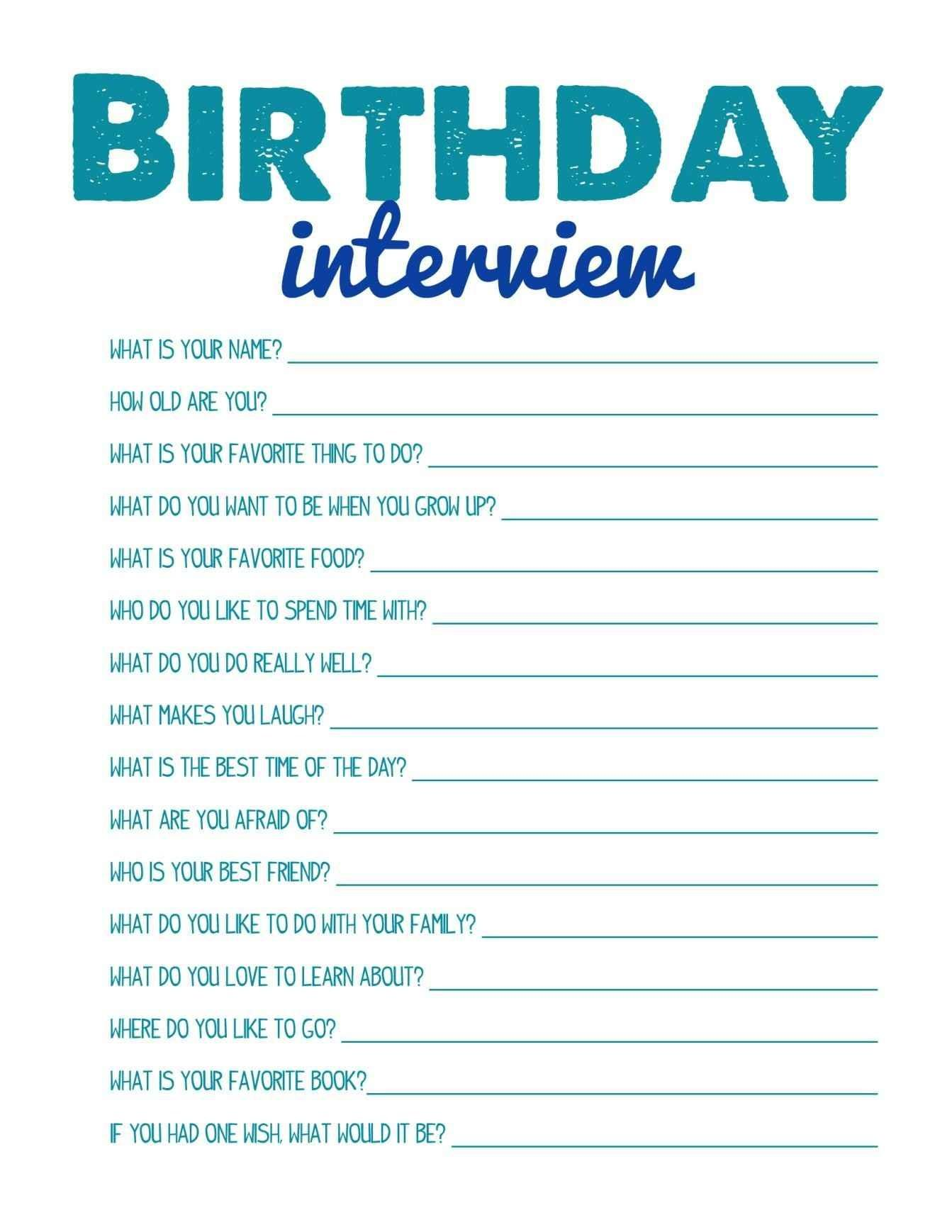 Printable Birthday Party Games Template Update234