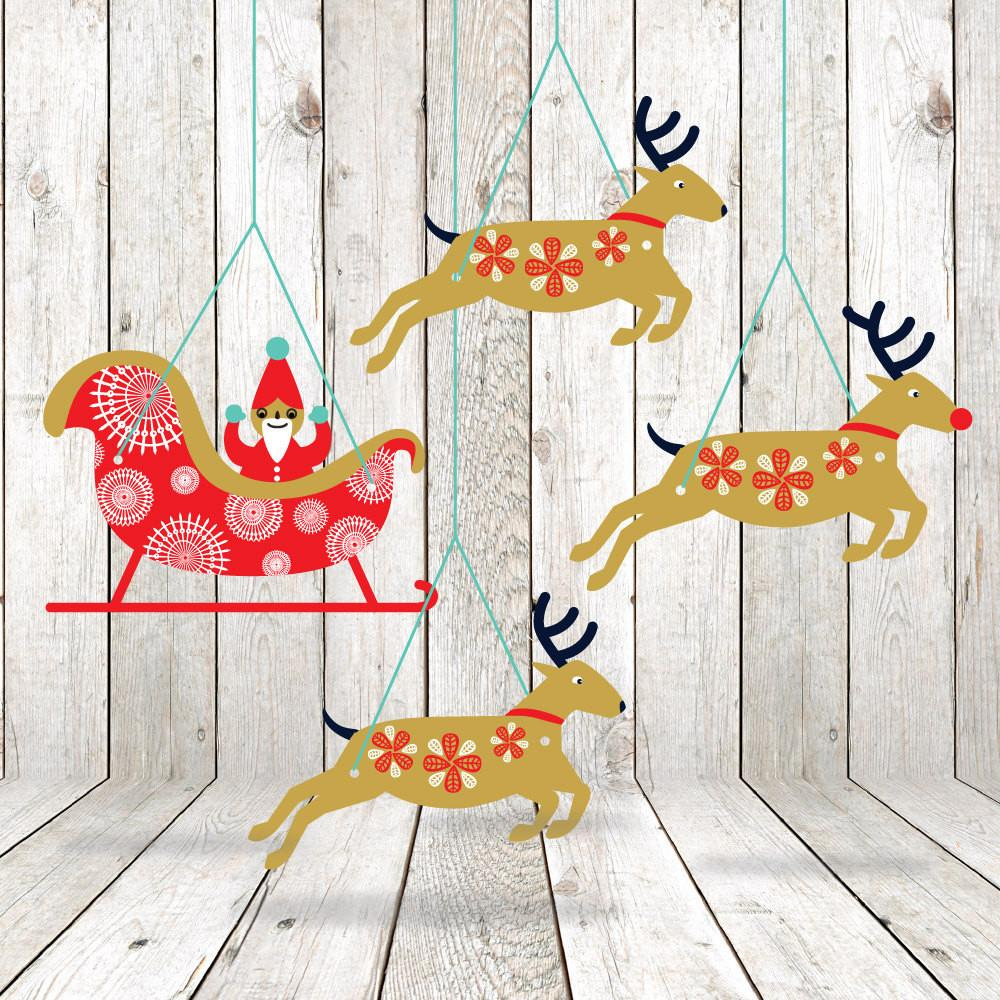Printable Christmas Garland Diy Decorations Paper
