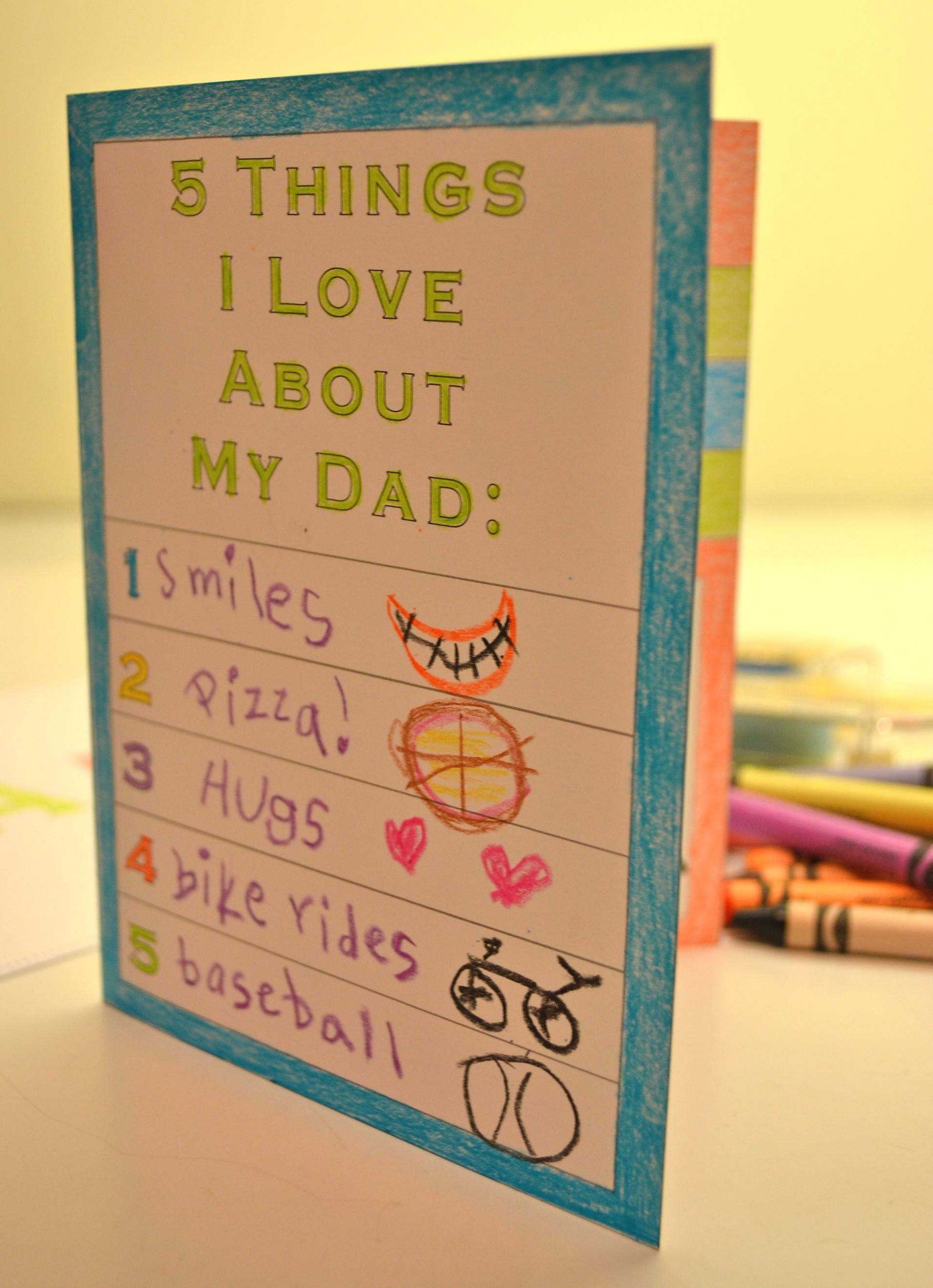 Printable Father Day Card Kids