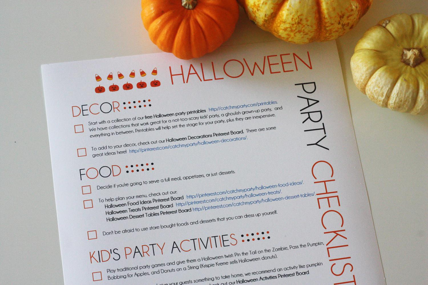 Printable Halloween Party Planning Guide Catch