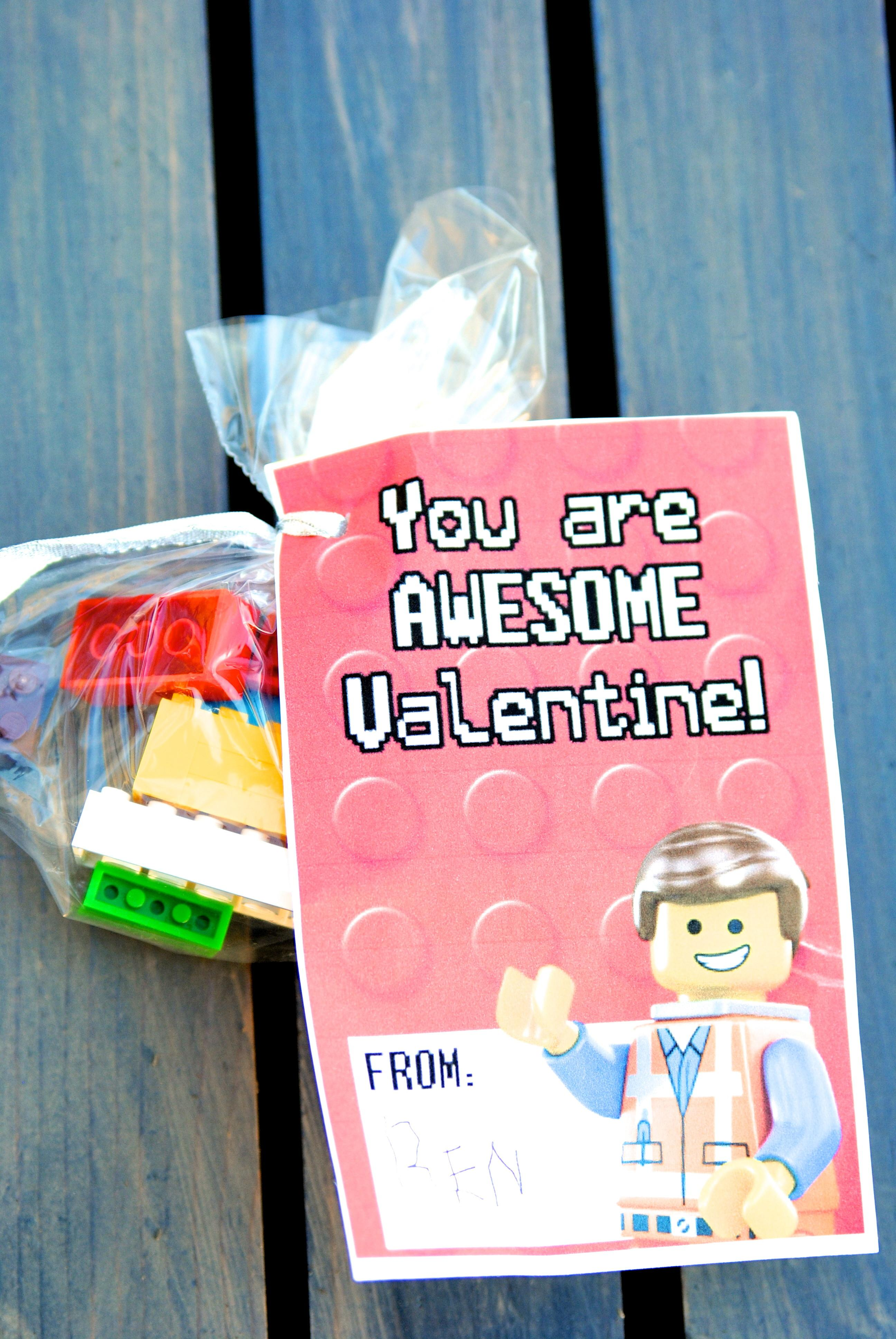 Printable Lego Valentines Clever Ways Them