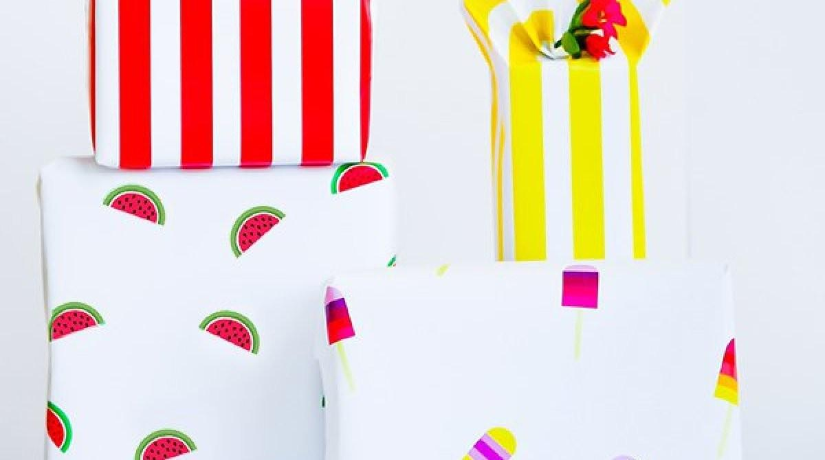 Printable Summer Wrapping Paper Make Diy Projects