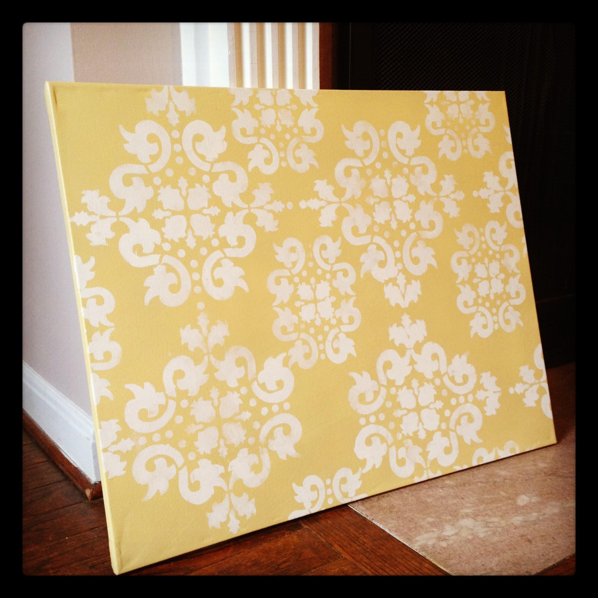 Project Spotlight Diy Stenciled Wall Art She Rambles