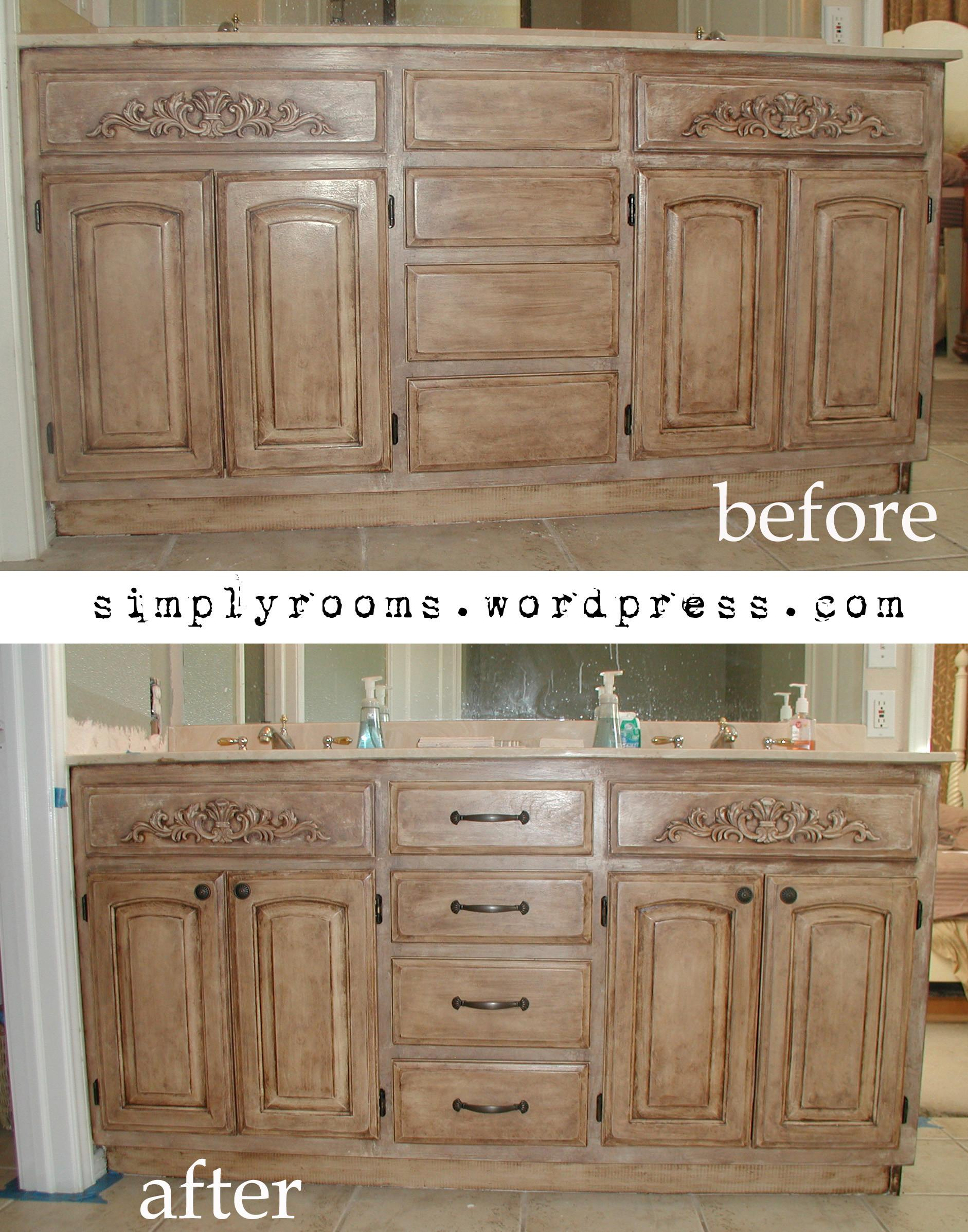 Project Transforming Builder Grade Cabinets Old World