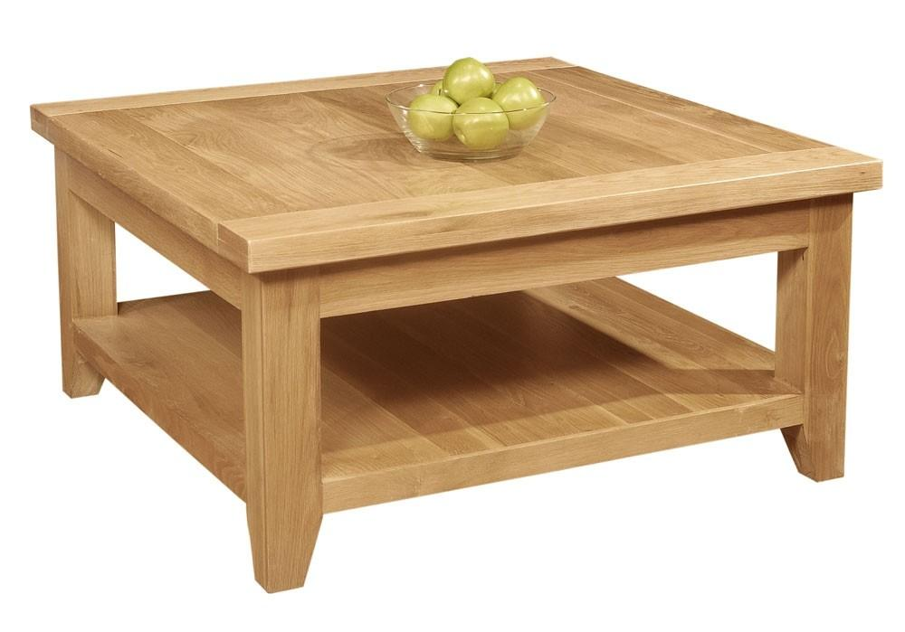 Provence Square Coffee Table Shelf Oak Beyond Stores