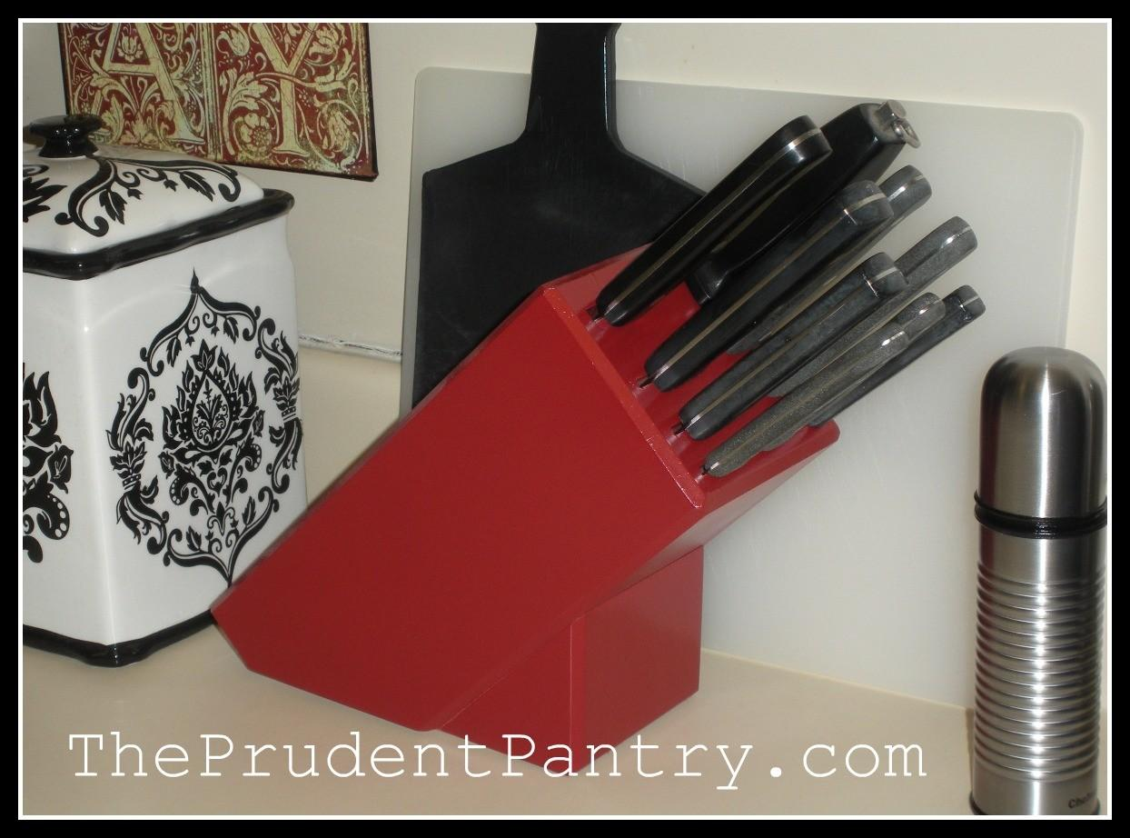 Prudent Pantry Knife Block Makeover