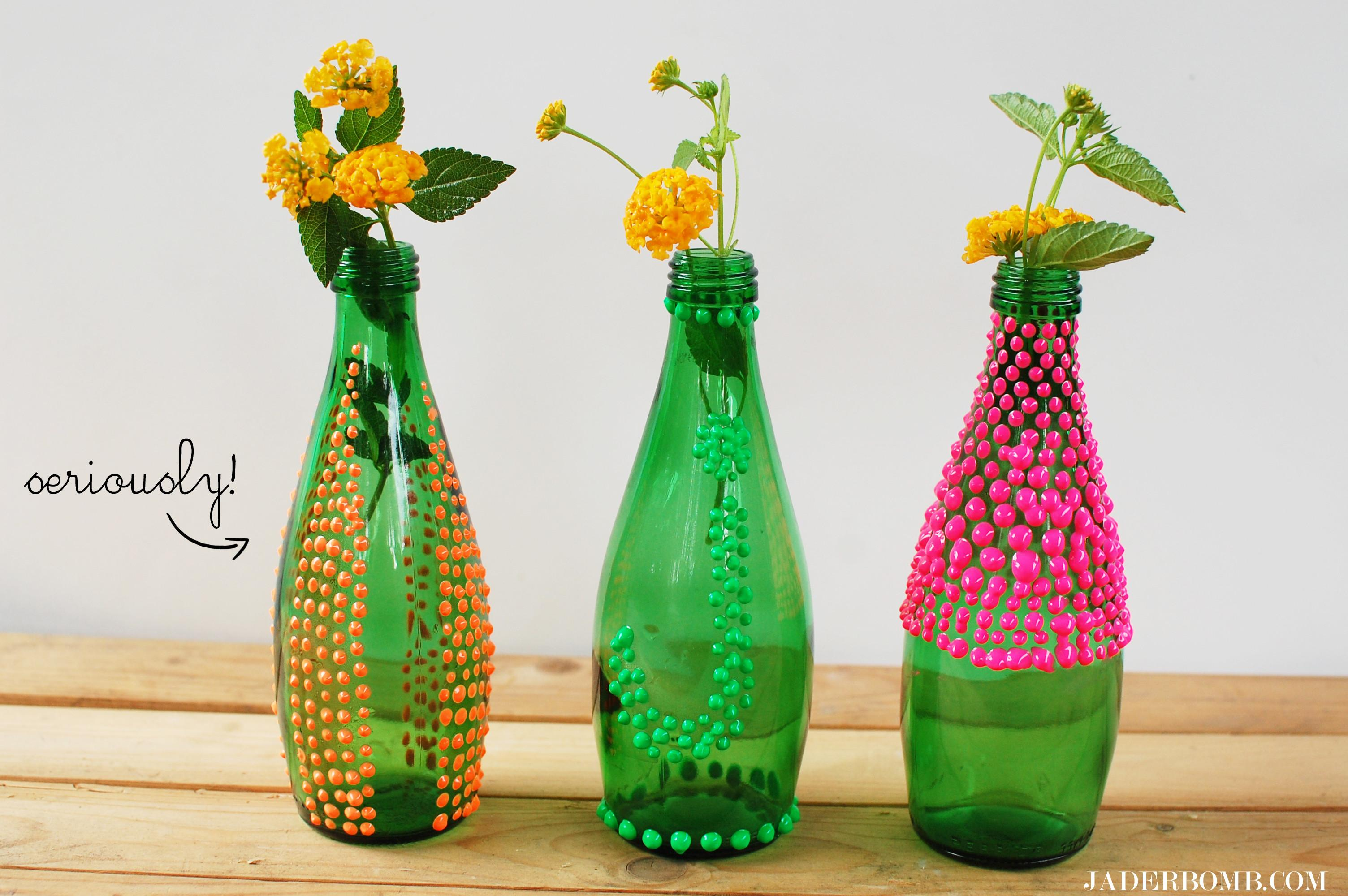 Puffy Paint Vases Diy Jaderbomb