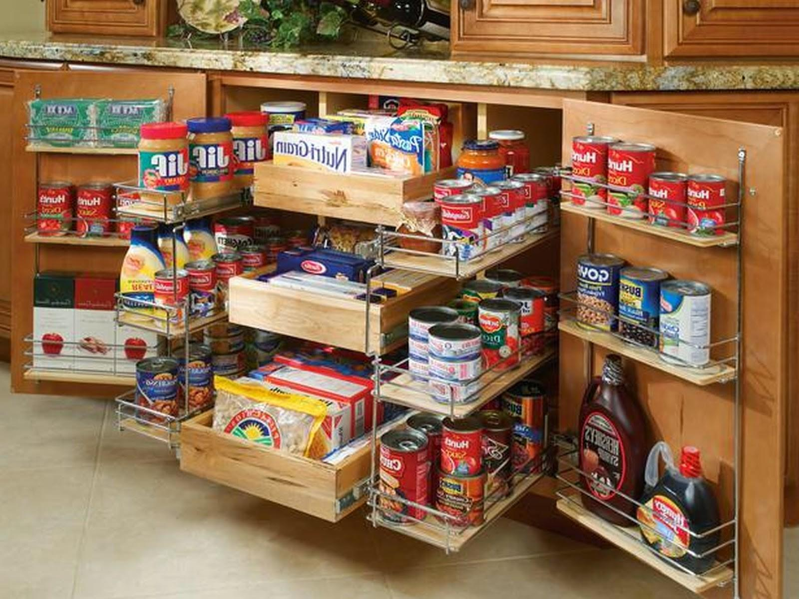 Pull Out Food Spice Rack Storage Cabinet Saving