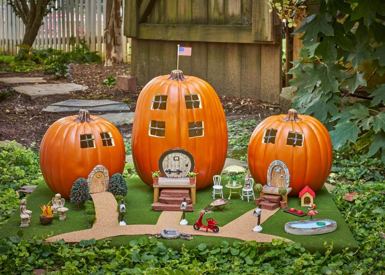 Pumpkin Decorating Ideas Real Faux Pumpkins