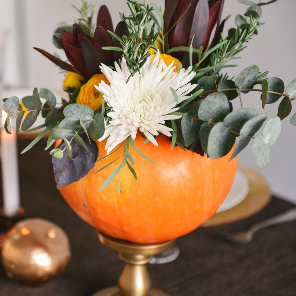 Pumpkin Floral Centerpiece Terra Essential Oils