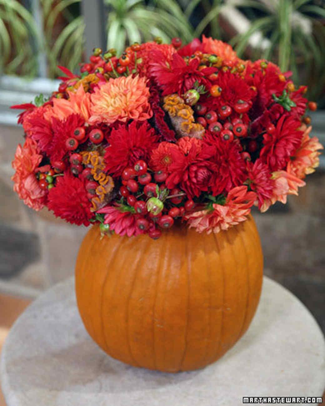 Pumpkin Flower Vase Video Martha Stewart