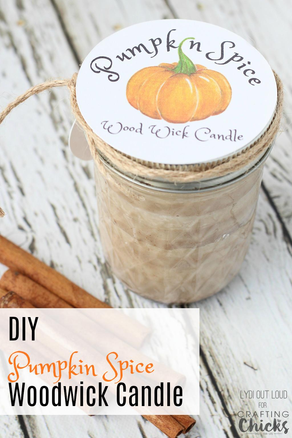Pumpkin Spice Soy Candle Wood Wick Crafting Chicks