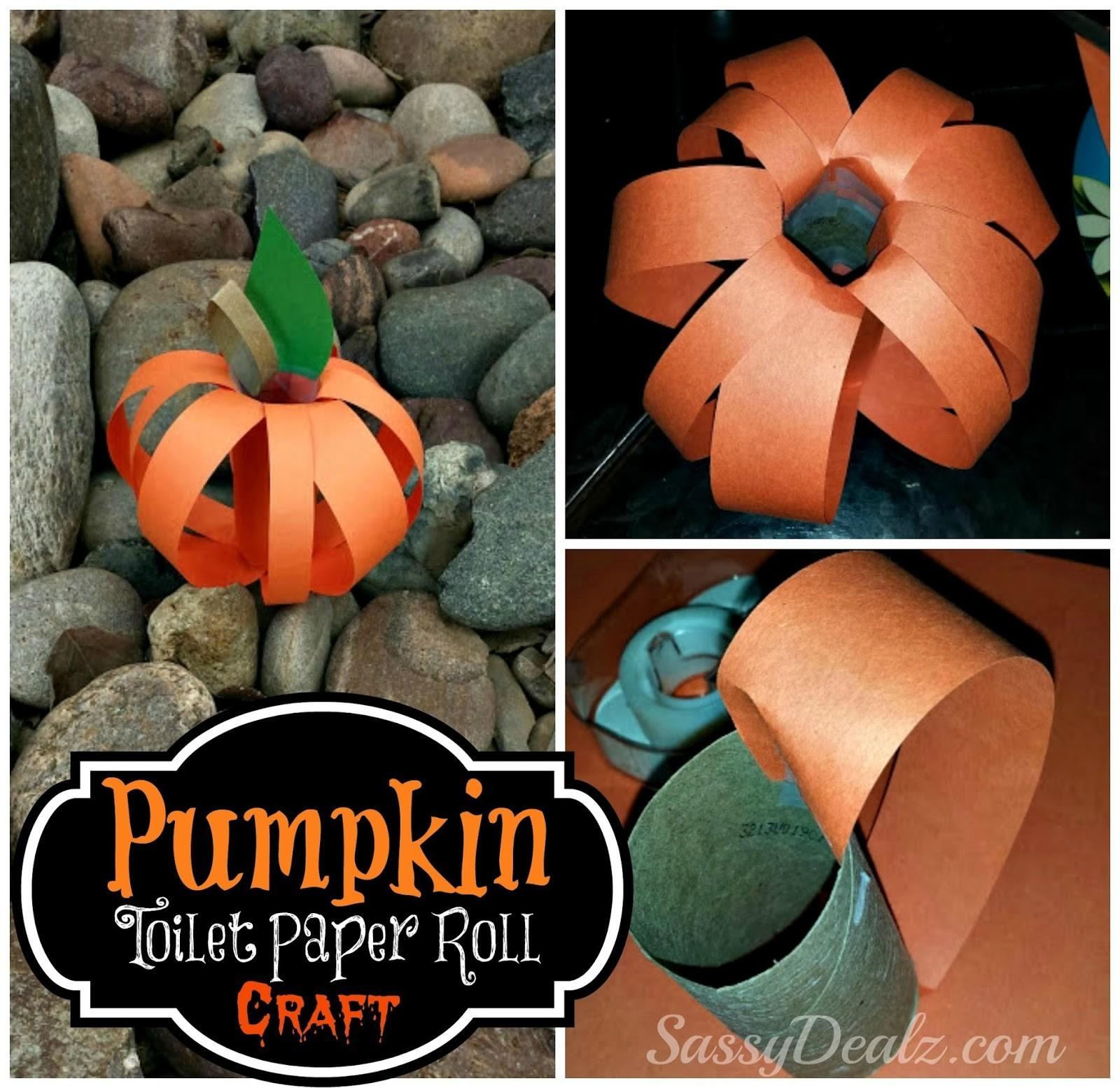 Pumpkin Toilet Paper Roll Craft Kids Halloween Idea