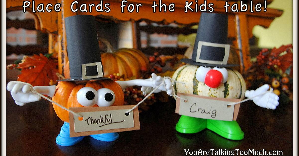Punkin Head Place Card Holders Perfect Kids