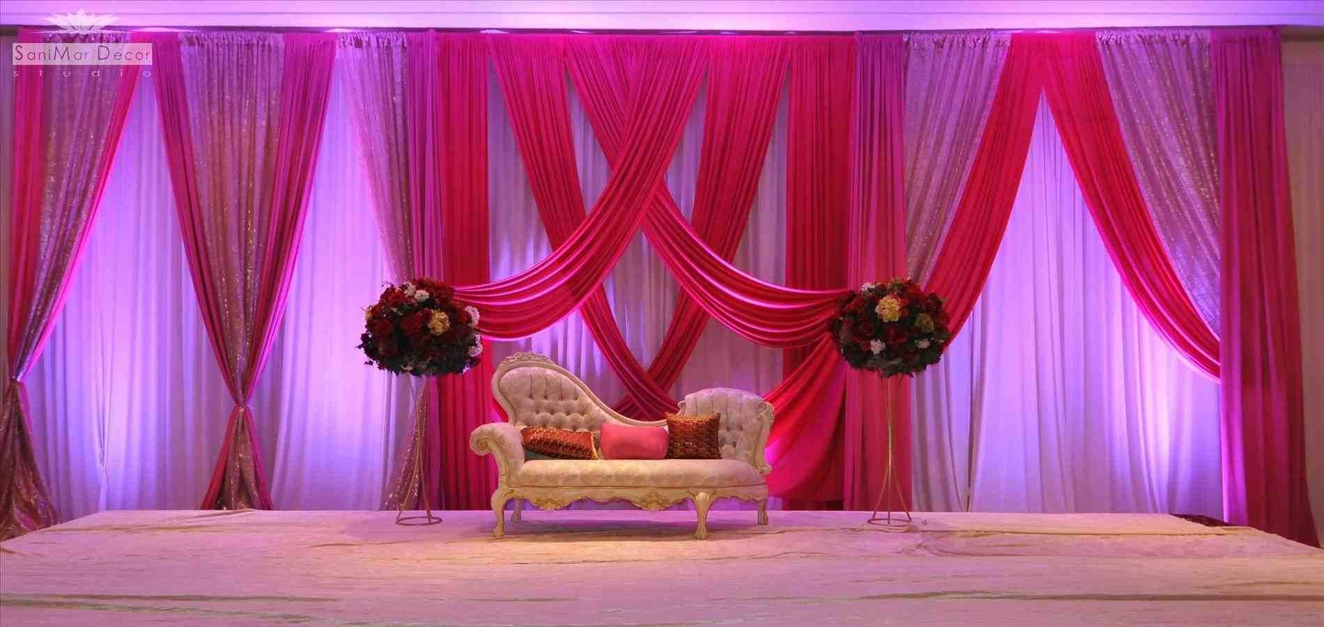 Purple Color Decor Elegant Ideas Simple Wedding Stage
